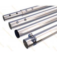 Мачта алюминиевая составная, диаметр 50мм, колено 2м, ДЛИНА 8м
